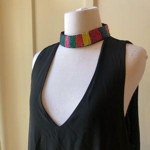 Show Me Your Mumu Krista Black Maxi Beaded Dress L